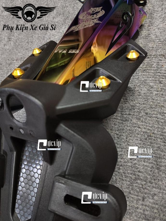 Bộ Dè Sau Exciter 155, Exciter 2021 K3 + Đuôi Đèn Xi Titan + 4 Ốc Kiểu MS4071