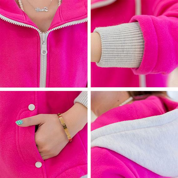ao khoac nu han quoc pink color
