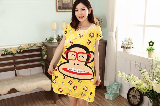 Kiểu Đồ Bộ Mặc Ở Nhà Dễ Thương Khỉ Vàng