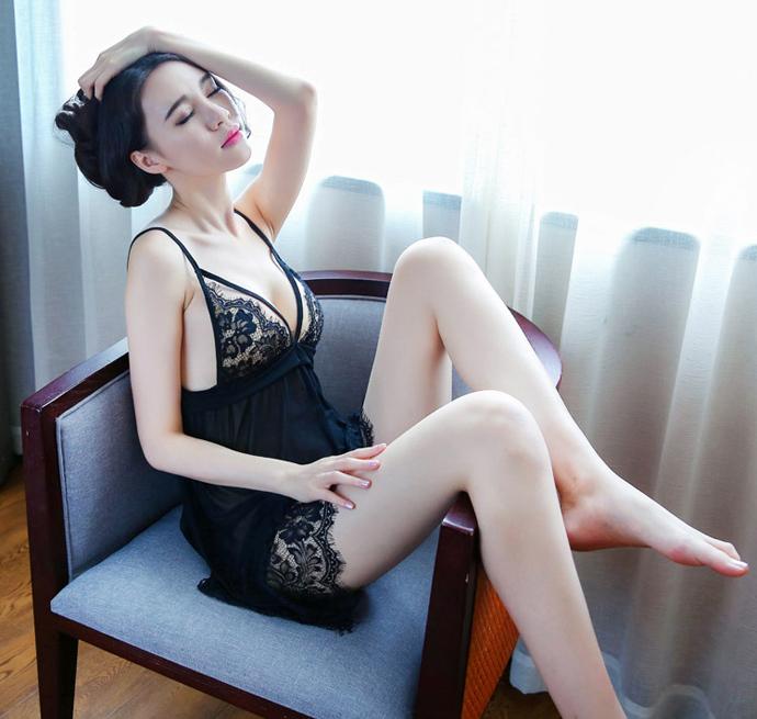 Váy Ngủ Nữ Siêu Mỏng MS1070