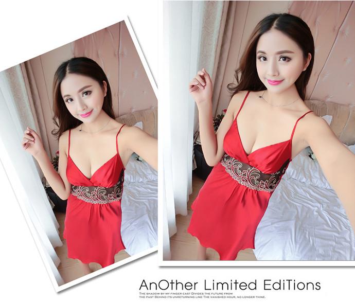 Váy Ngủ Đẹp Gợi Cảm MS1077 Đỏ
