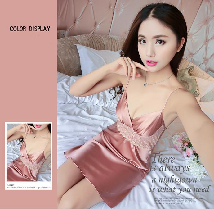Váy Ngủ Đẹp Gợi Cảm MS1077 Nâu