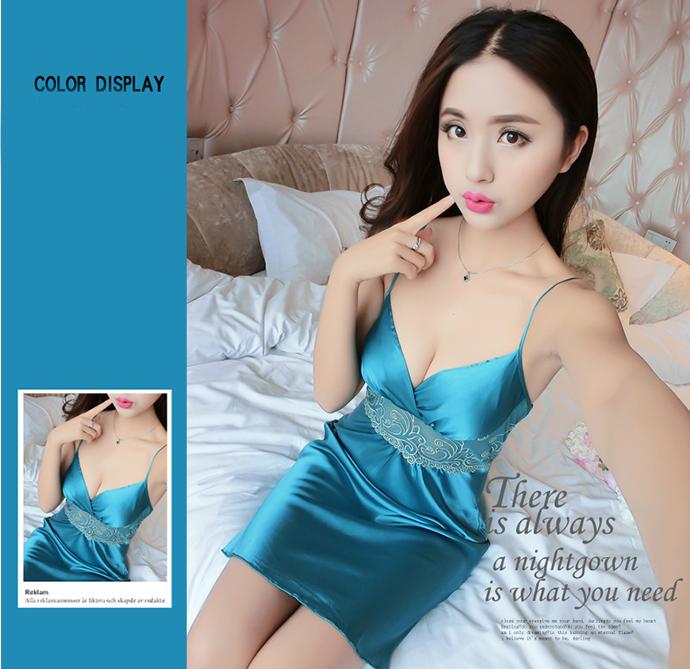 Váy Ngủ Đẹp Gợi Cảm MS1077 Xanh