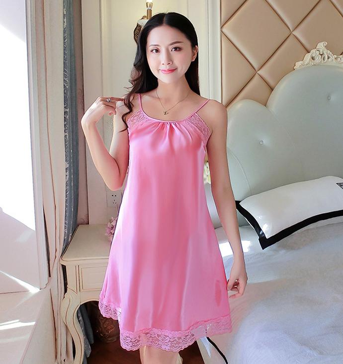 Đầm Ngủ Dễ Thương MS1079 Hồng