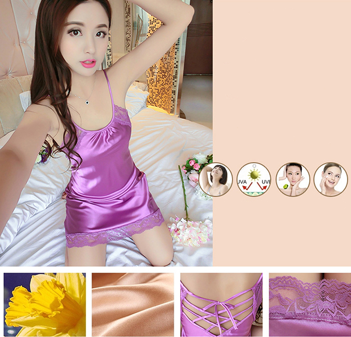 Đầm Ngủ Dễ Thương MS1079 Tím