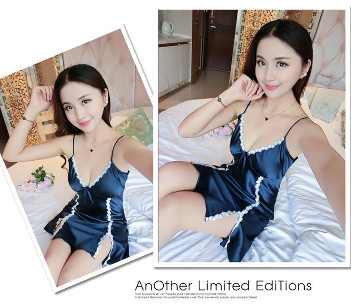 Áo Ngủ Quyến Rũ (Có Mút Ngực) MS1083 Xanh