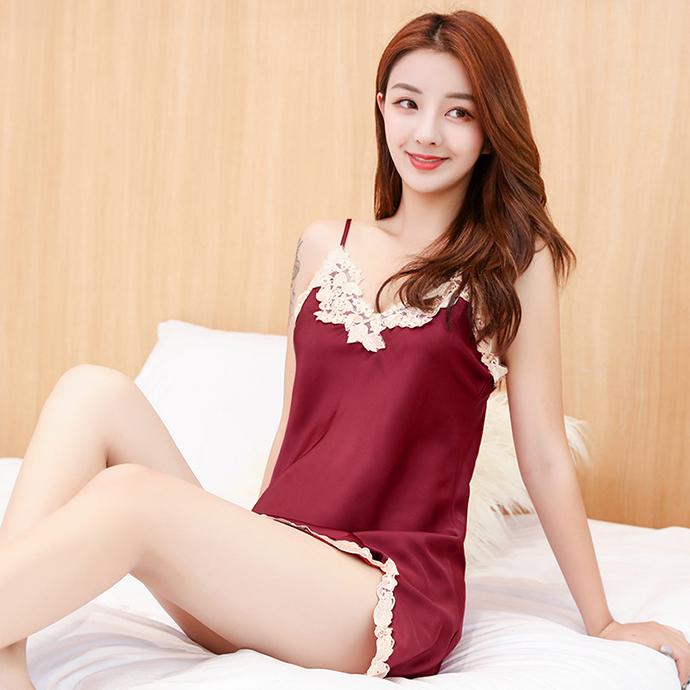 Váy Ngủ Gợi Cảm Nhất MS1085 Đỏ