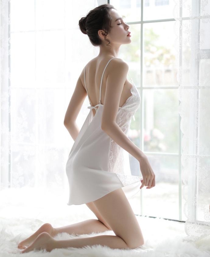 Áo Ngủ Đẹp Gợi Cảm MS1105 Trắng