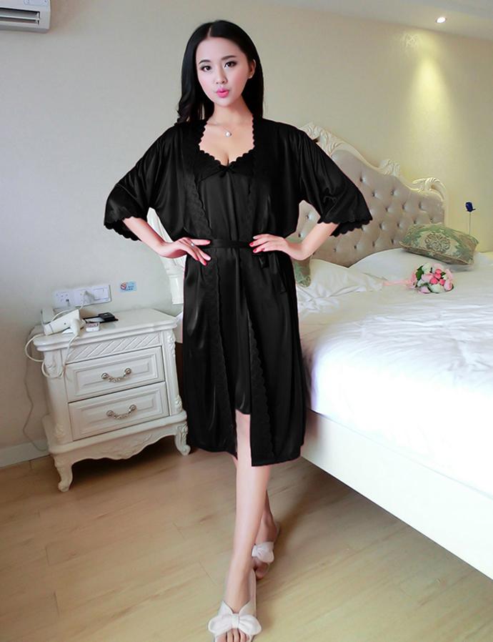 Váy Ngủ Cao Cấp MS1110 Đen
