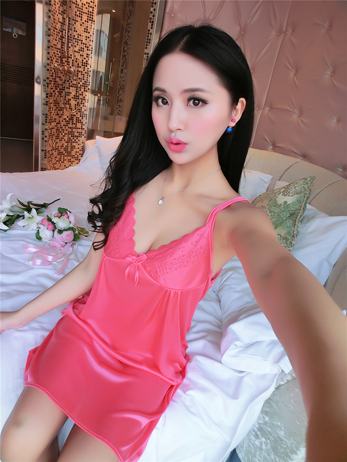 Váy Ngủ Cao Cấp MS1110 Hồng Cam