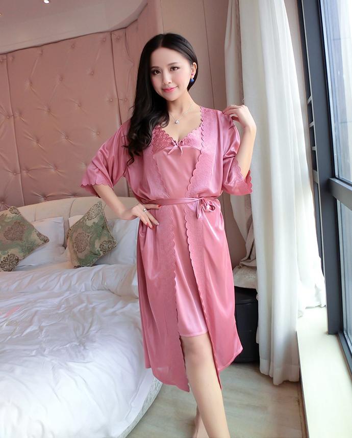 Váy Ngủ Cao Cấp MS1110 Hồng Nho