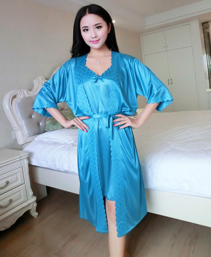 Váy Ngủ Cao Cấp MS1110 Xanh