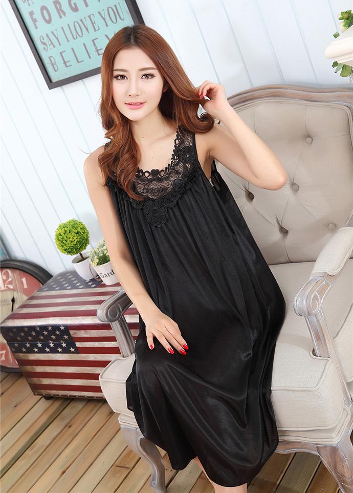 Váy Ngủ Dễ Thương Giá Rẽ MS1111 Đen