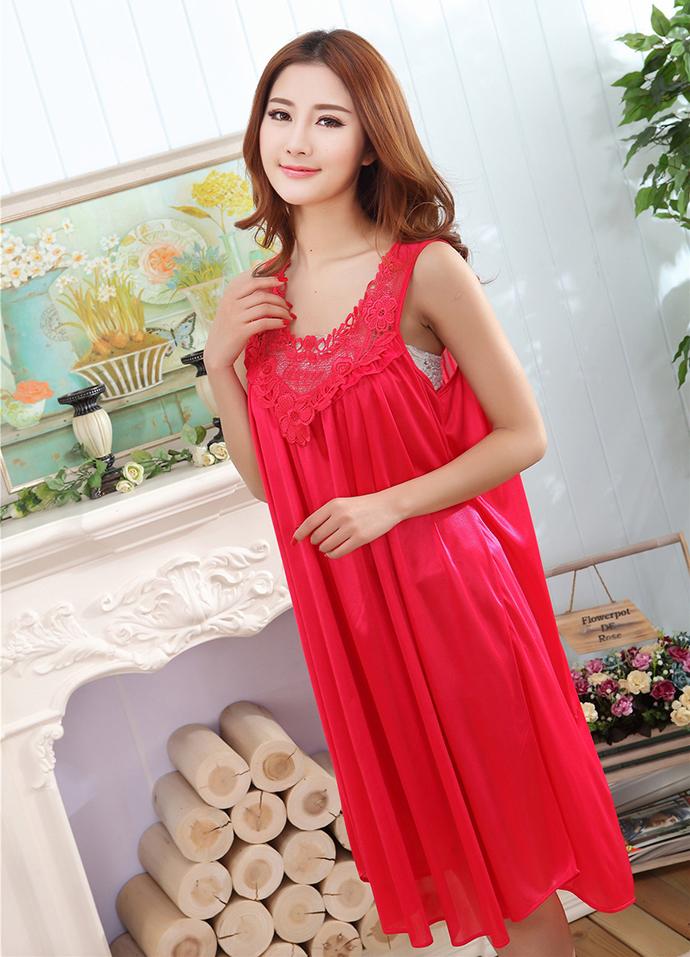 Váy Ngủ Dễ Thương Giá Rẽ MS1111 Đỏ