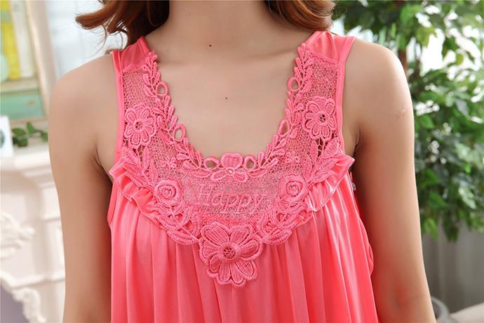 Váy Ngủ Dễ Thương Giá Rẽ MS1111 Hồng Cam