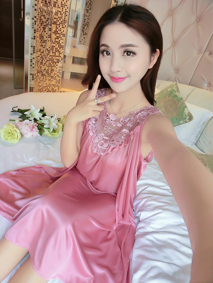 Váy Ngủ Dễ Thương Giá Rẽ MS1111 Hồng Nho