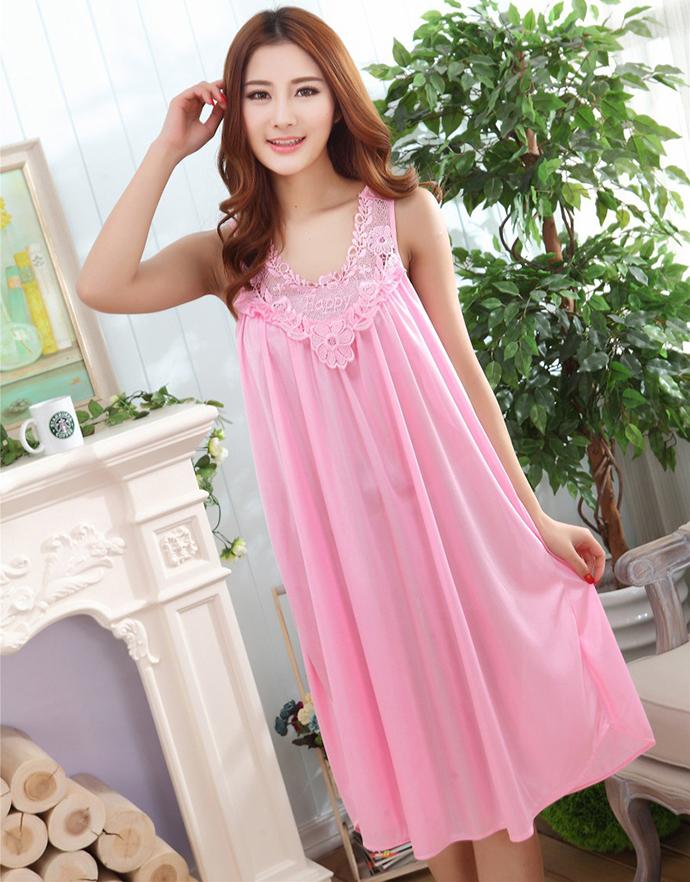 Váy Ngủ Dễ Thương Giá Rẽ MS1111 Hồng Phấn