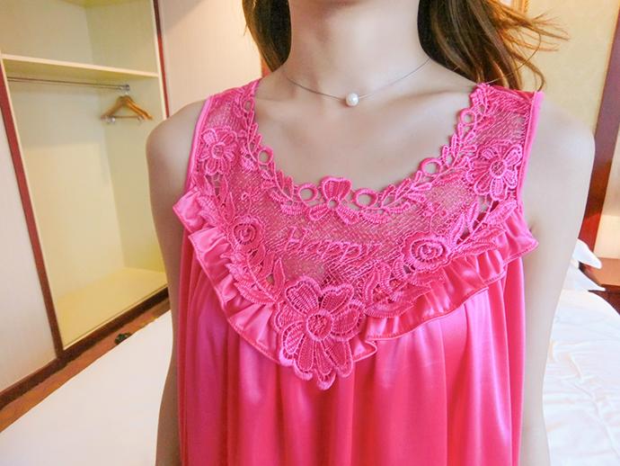 Váy Ngủ Dễ Thương Giá Rẽ MS1111 Hồng Sen