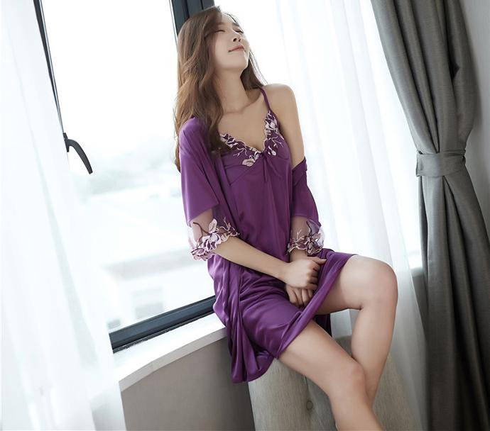 Váy Ngủ Dễ Thương Tphcm MS1114 Tím