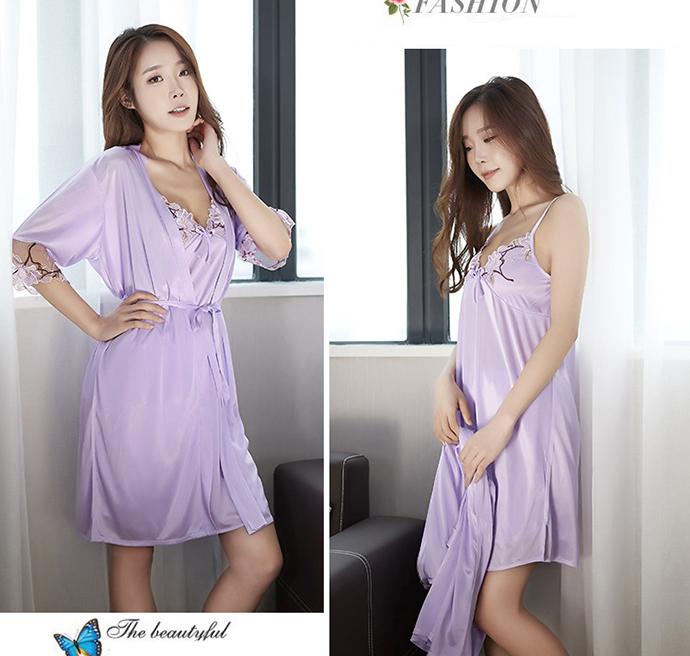 Váy Ngủ Dễ Thương Tphcm MS1114 Tím Nhạt