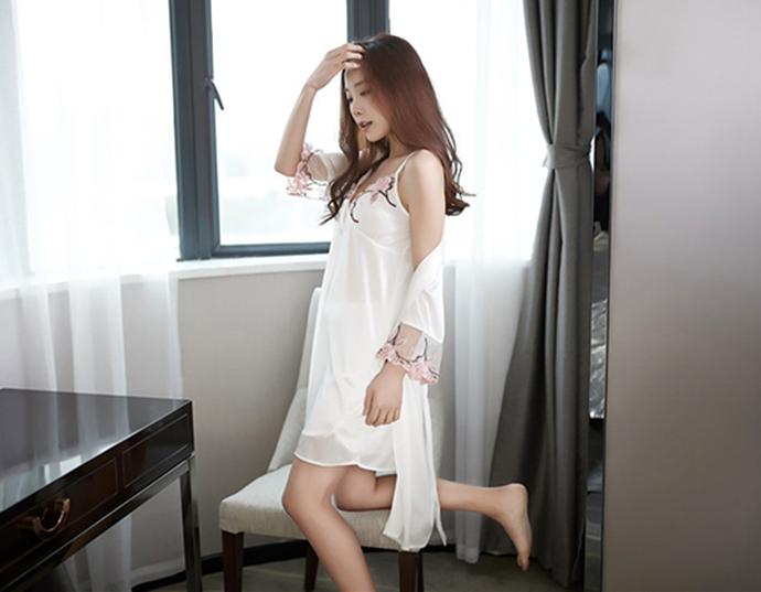 Váy Ngủ Dễ Thương Tphcm MS1114 Trắng