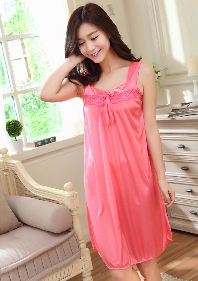 Đầm Ngủ Giá Rẻ Dễ Thương MS1117 Hồng Cam