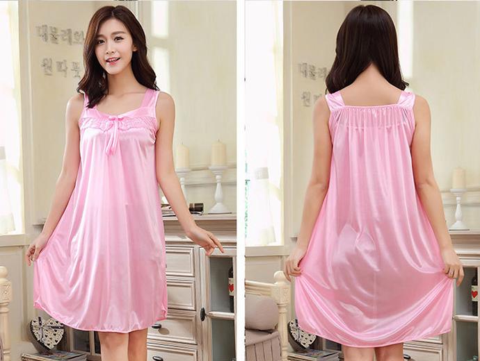 Đầm Ngủ Giá Rẻ Dễ Thương MS1117 Hồng Phấn