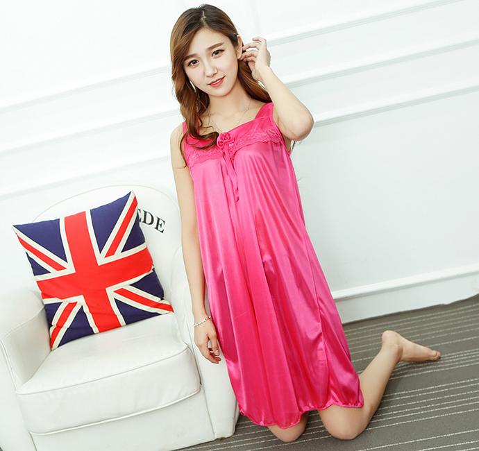Đầm Ngủ Giá Rẻ Dễ Thương MS1117 Hồng Sen