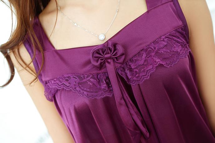 Đầm Ngủ Giá Rẻ Dễ Thương MS1117 Tím Đậm
