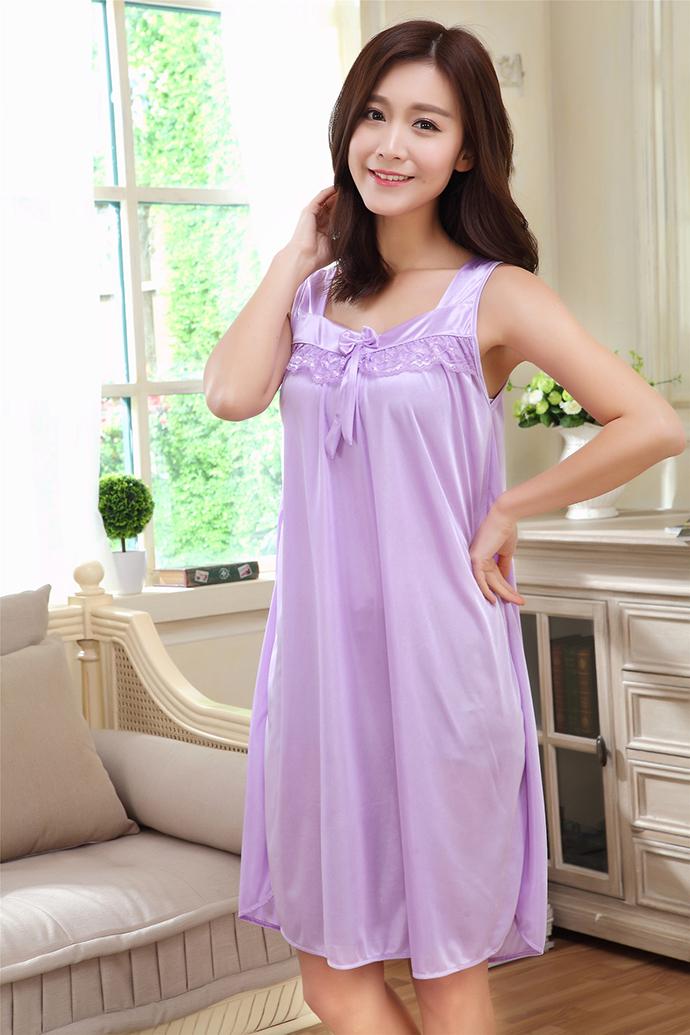 Đầm Ngủ Giá Rẻ Dễ Thương MS1117 Tím Nhạt