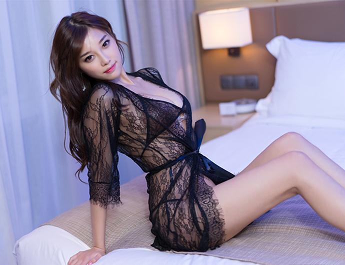 Váy Ngủ Mỏng Nhất MS1288 Đen