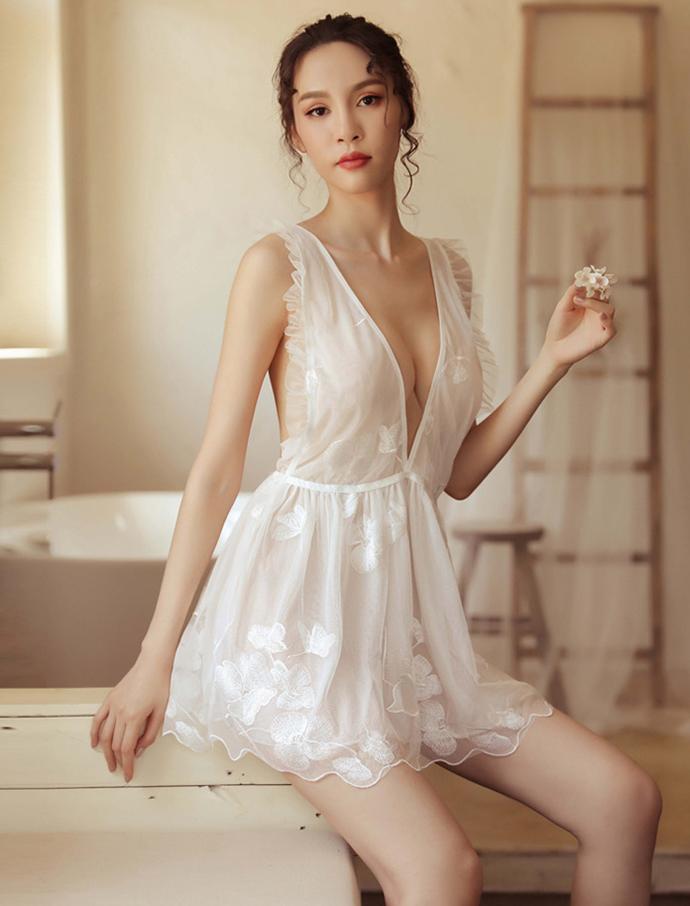 Đầm Ngủ Xuyên Thấu Cao Cấp MS1294