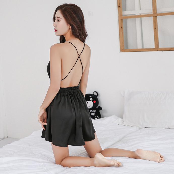 Váy Ngủ Đẹp Gợi Cảm Cao Cấp MS1306 Đen