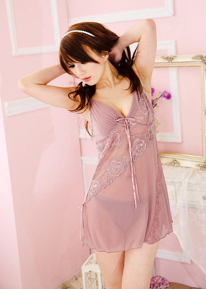Váy Ngủ Xuyên Thấu Ren Hoàng Tộc