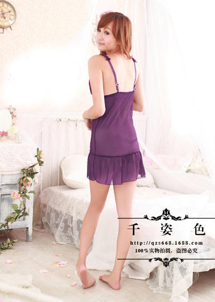 Váy Ngủ Siêu Mỏng Ren Nơ Dây